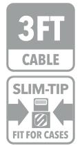 Cablu de incarcare si sincronizare mufa Lightning™ strikeLINE™ II