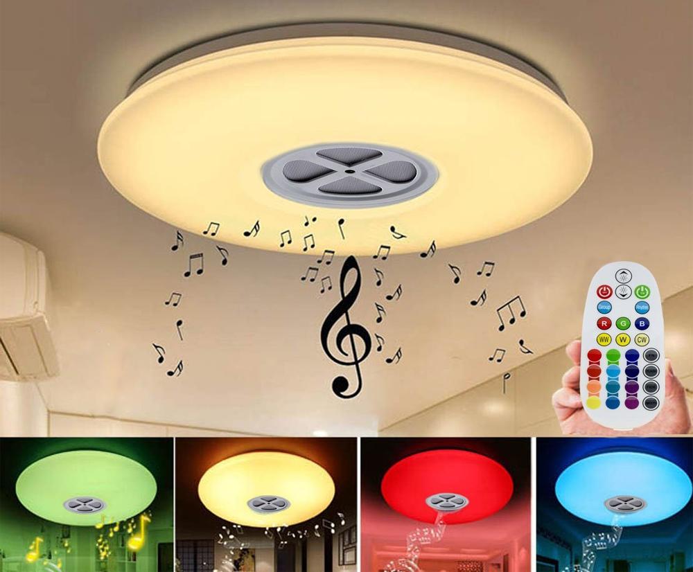 Plafoniera Led Dimabila : Plafoniera inteligenta de tavan w lumina calda cu control