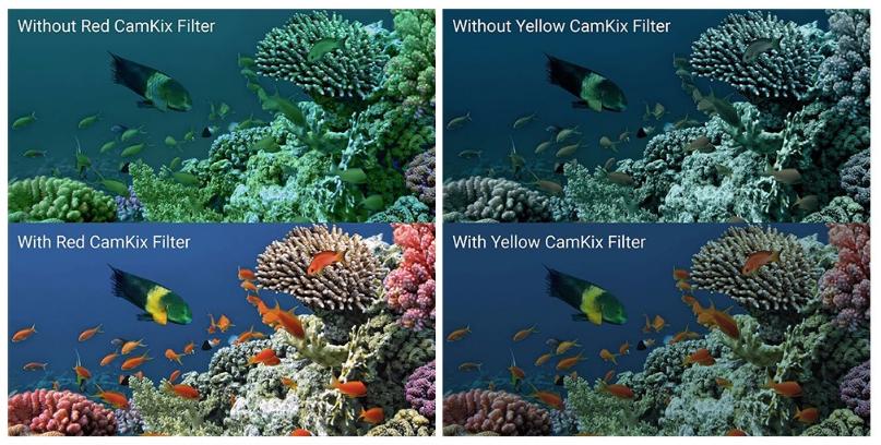 Filtru colorat pentru filmari subacvatice compatibil GoPro Hero 5 / 6 / 7