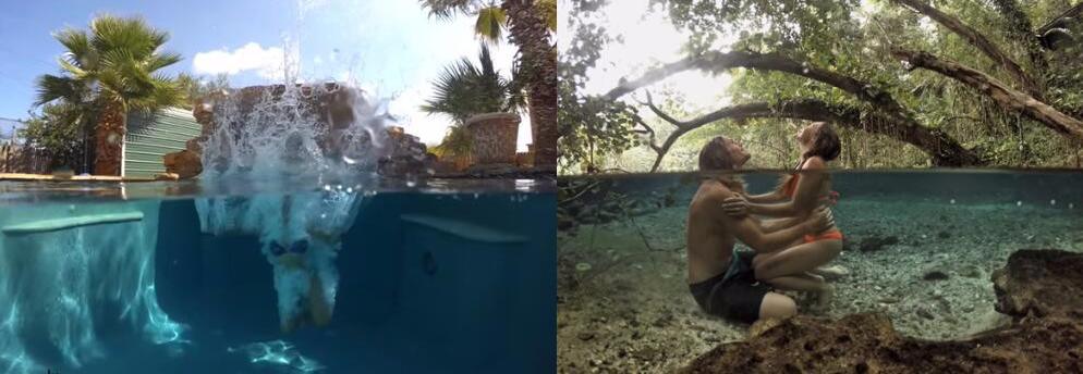 Dome pentru filmari subacvatice compatibil GoPro Hero 5 / 6 / 7
