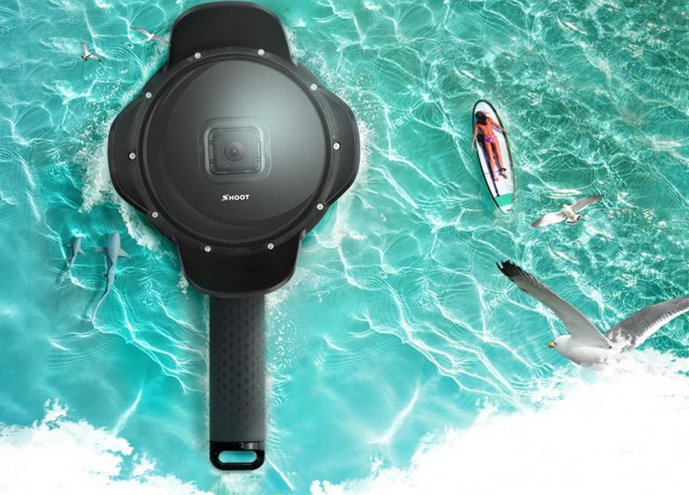 """Dome pentru filmari subacvatice 6"""" cu lens Hood, compatibil Hero 5, 6, 7"""