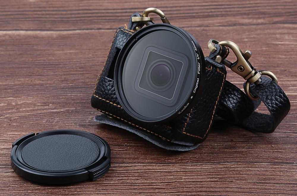 Carcasa din piele cu filtru UV 52 mm, GoPro Hero 5 / 6 / 7