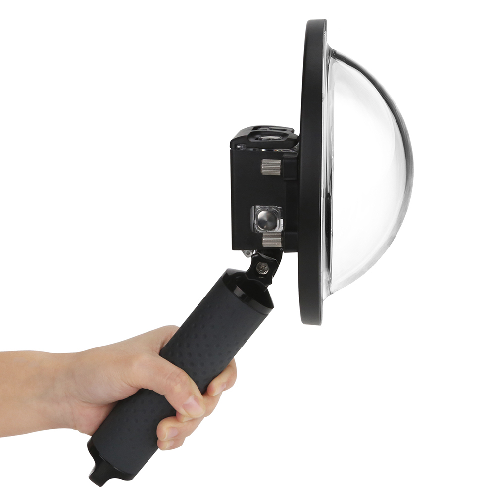 Dome pentru filmari subacvatice compatibil GoPro Hero 5 / 6 / 7 (Negru)
