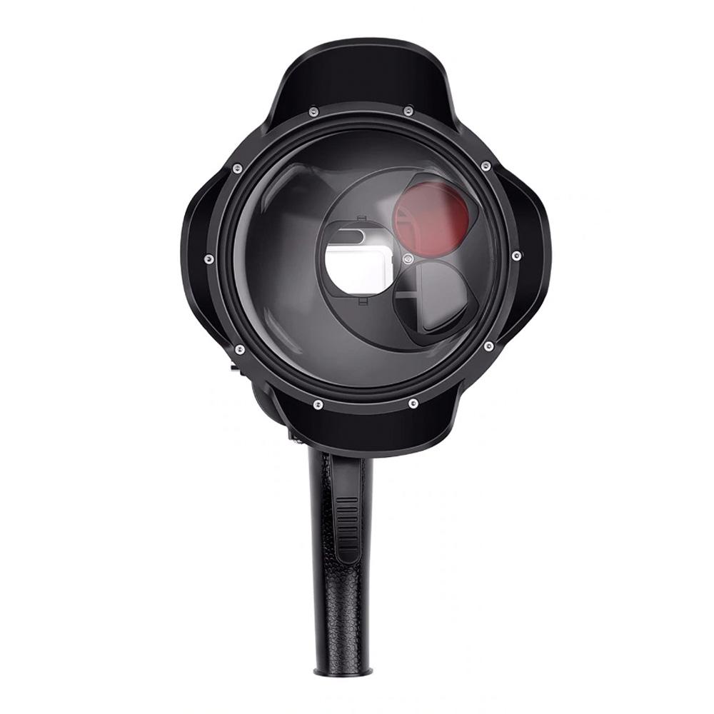 """Dome pentru filmari subacvatice 6"""" cu trigger, lens Hood si carcasa incluse, compatibil Hero 5, 6, 7"""