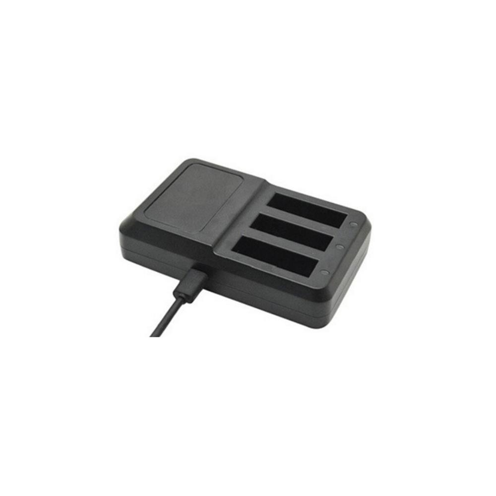 Incarcator Triplu GoPro Hero 4 + Adaptor perete EU (Negru)