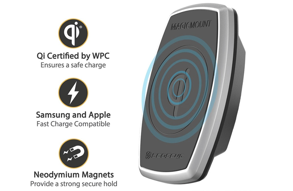 MagicMount™ Pro Charge Window/Dash cu incarcare wireless Qi