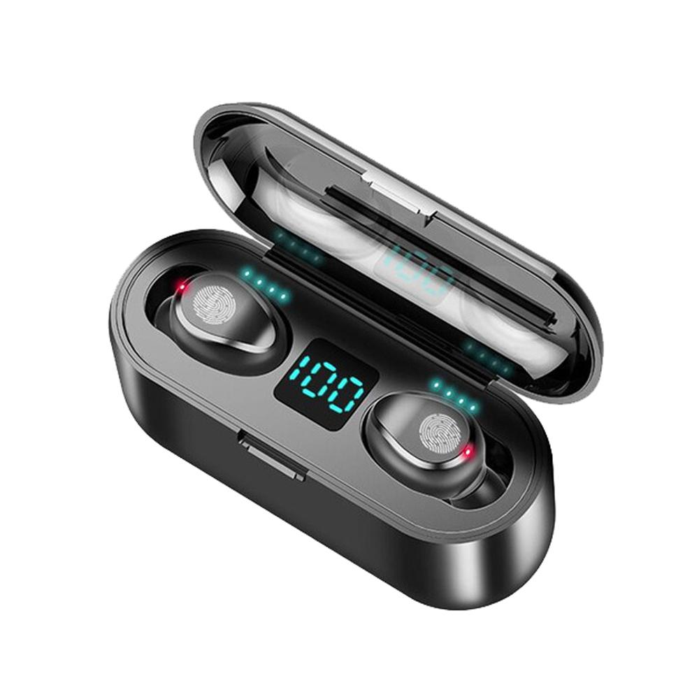 Casti earbuds Wireless Bluetooth, rezistente la apa, cu functie de anulare zgomot