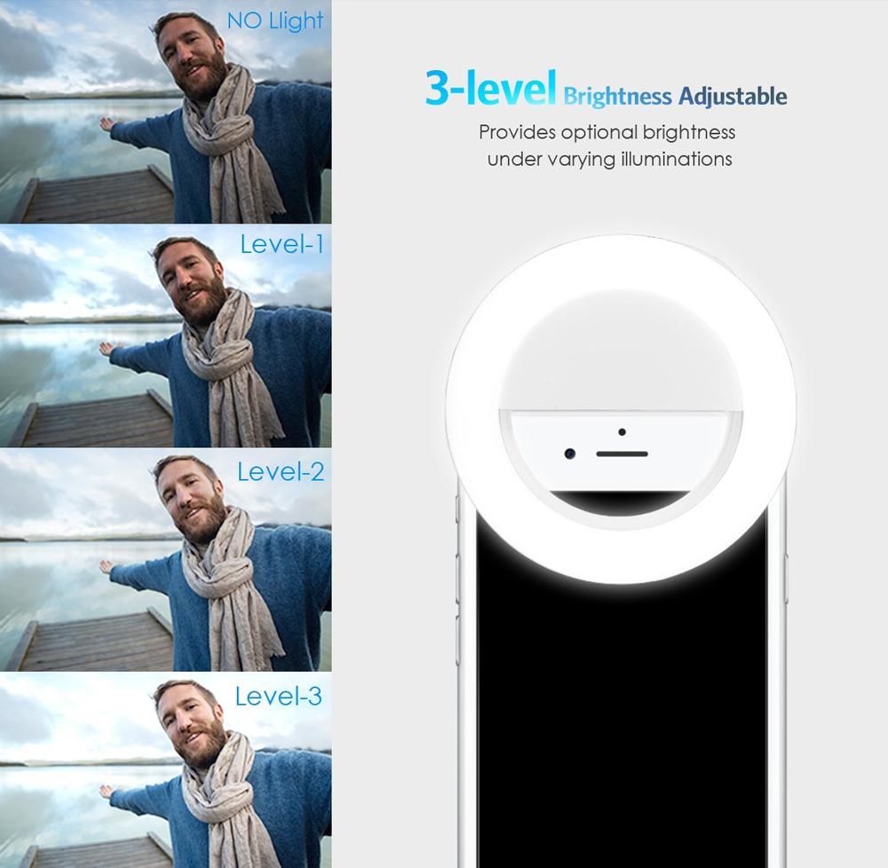 Selfie ring light pentru smartphone