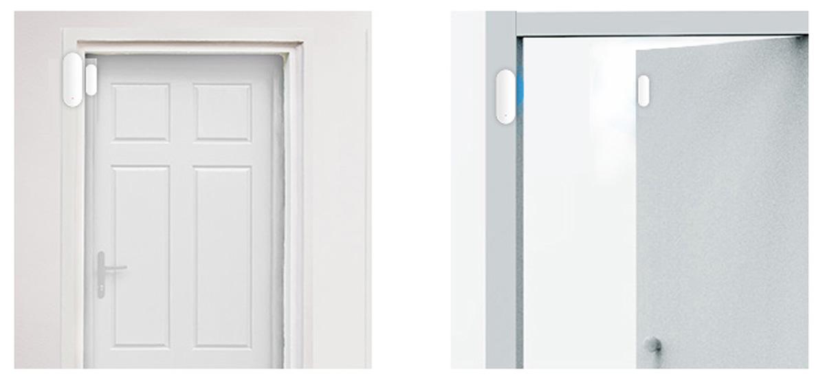 Senzor miscare magnetic SMART pentru geamuri si usi, compatibil cu alarma WiFi