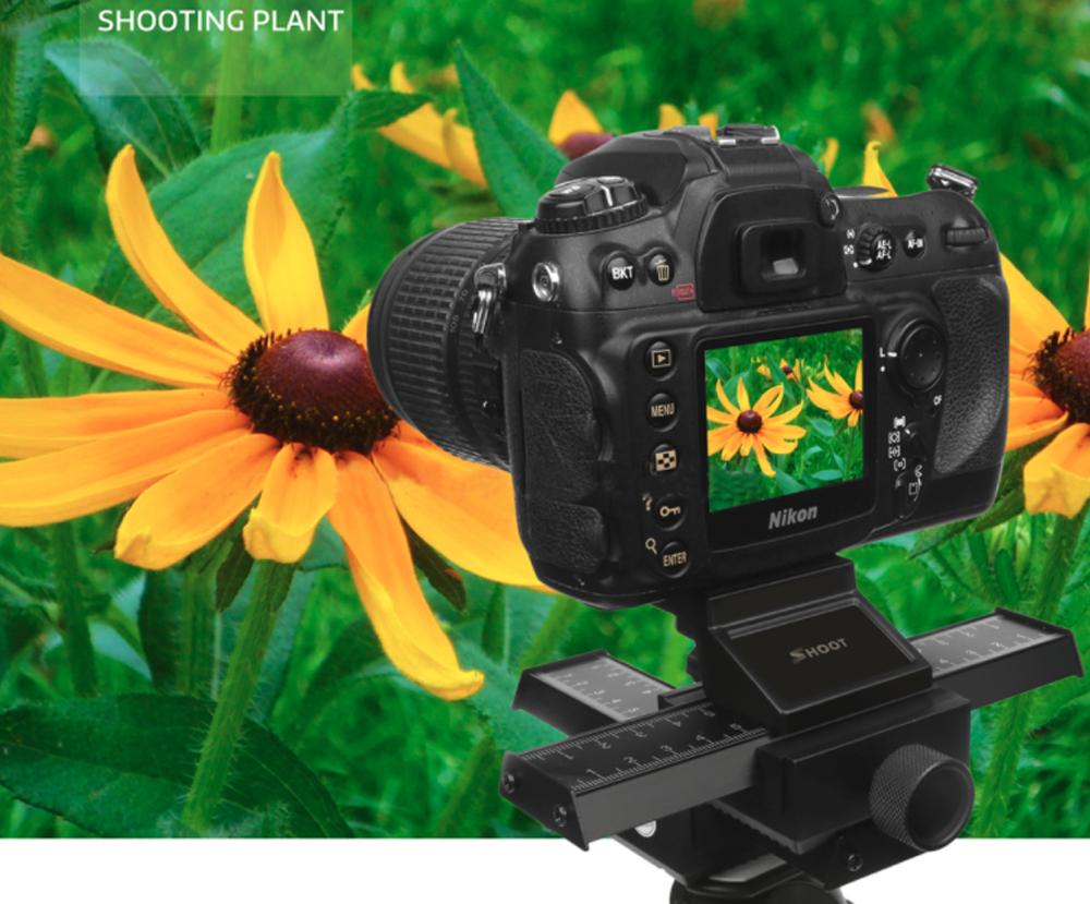 Slider in patru directii pentru fotografie Macro