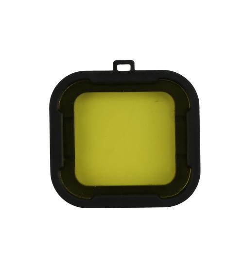 Filtru colorat pentru filmari subacvatice compatibil Gopro hero 3+ / 4, SJCAM (Galben)