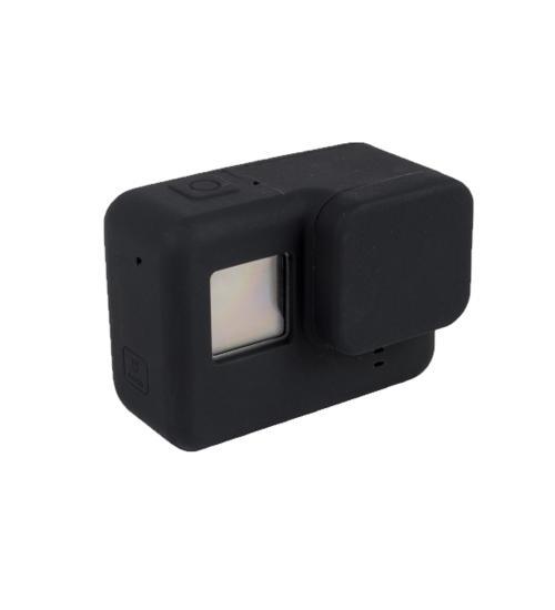 Carcasa de protectie din silicon fara rama, compatibila cu GoPro Hero 5 / 6 / 7 (Negru)