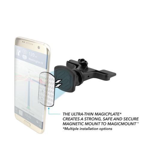 Suport auto magnetic MagicMount™ CD (Negru)