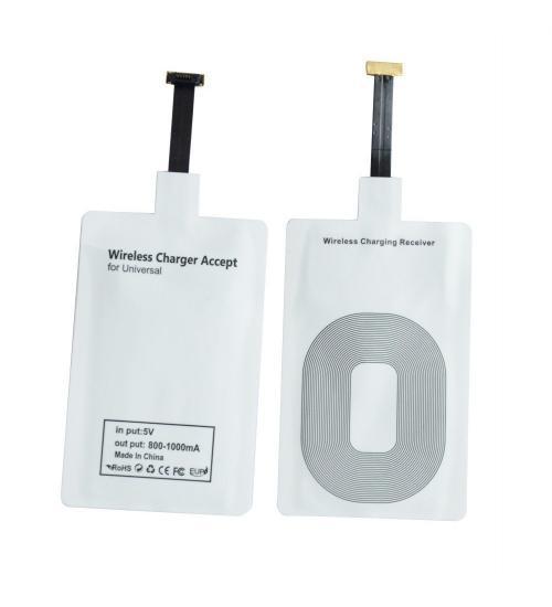 Receiver incarcator wireless, microUSB (Alb)