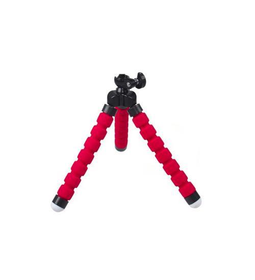 Mini trepied flexibil cu picioare puternice si filet universal (Rosu)