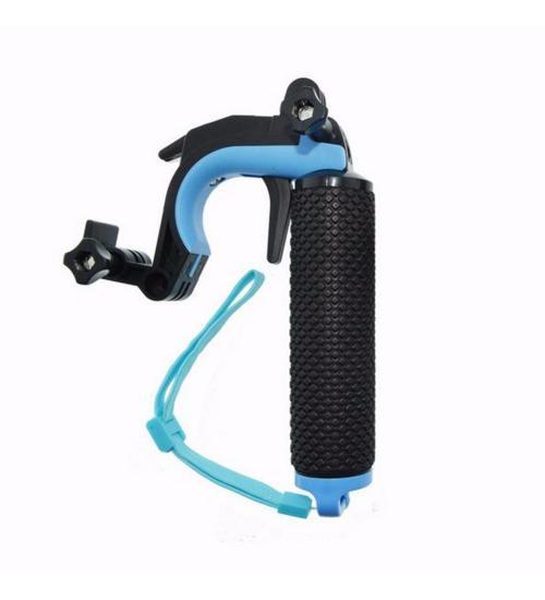 Monopod plutitor in forma de pistol, cu declansator si suport telefon (Albastru)