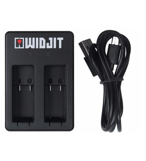 Incarcator dublu pentru baterii GoPro Hero 5 / 6 / 7 - Widjit (Negru)