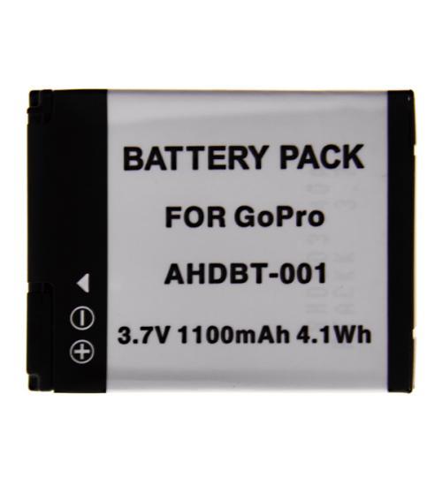 Baterie Widjit tip acumulator GoPro Hero 1 si 2, Li-ion 1100mAh (Negru)