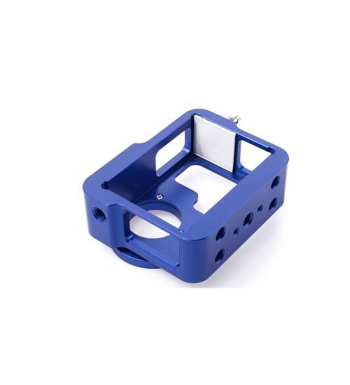Carcasa de protectie pentru Hero 3 din aluminiu (Albastru)