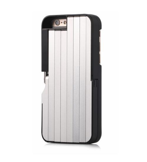 Carcasa cu selfie stick integrat pentru iPhone 6/6S (Negru)