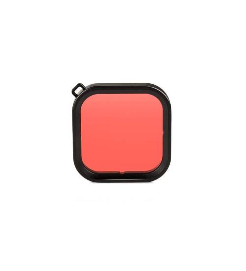 Filtru pentru filmari subacvatice GoPro Hero 8 Black, compatibil cu carcasa subacvatica (Rosu)
