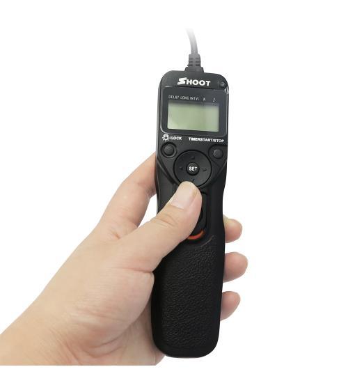 Telecomanda pentru DSLR Canon (Negru)