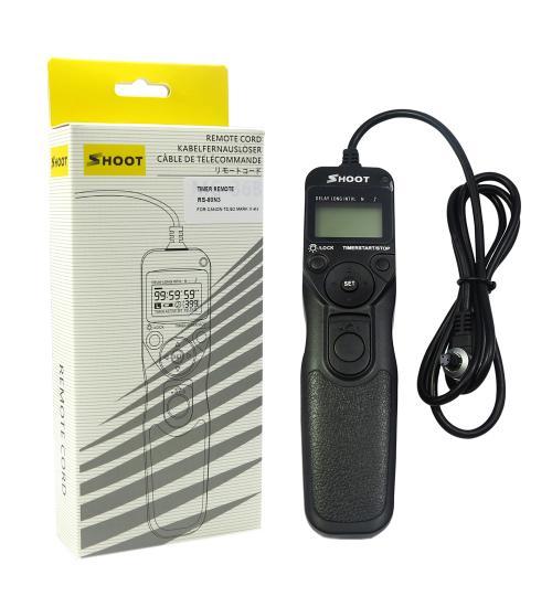 Telecomanda pentru DSLR Canon EOS (Negru)
