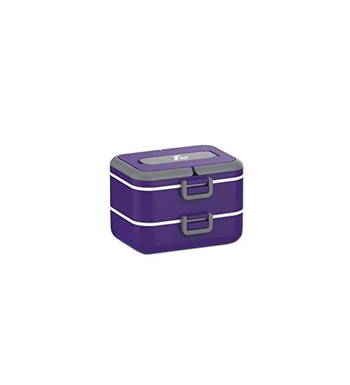 Lunch box cu doua niveluri si 1,5 l capacitate (Mov)