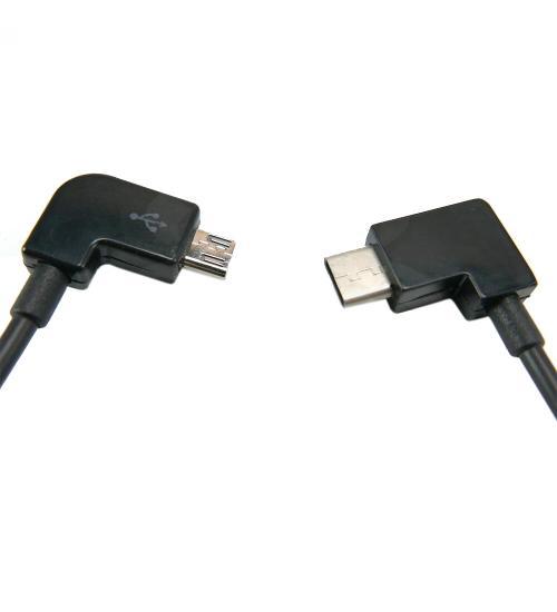 Cablu telecomanda USB-C pentru drone DJI (Negru)