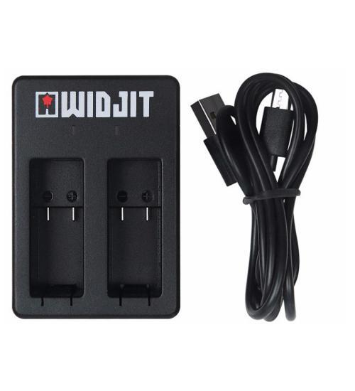 Kit Widjit incarcare baterii GoPro Hero 5 / 6 / 7 (Negru)