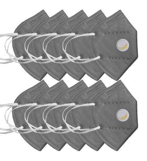 pachet 10 masti respiratorii FFp2 cu valva