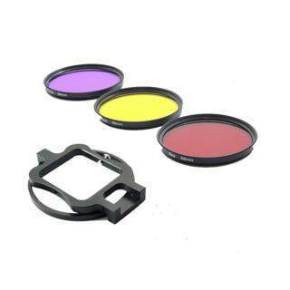 Set de filtre 58mm colorate si adaptor de fixare pentru camere video sport pentru GoPro