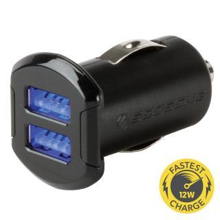 Incarcator auto Dual 12 W iluminat reVOLT™