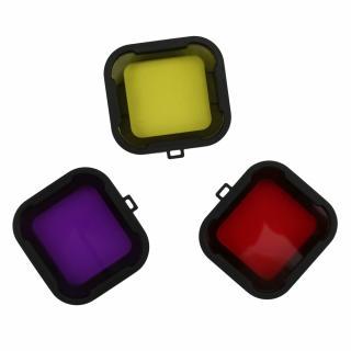 Filtru colorat pentru filmari subacvatice compatibil Gopro hero 3+ / 4, SJCAM