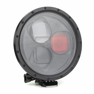 Carcasa subacvatica cu posibilitatea de schimbare filtre si raport marire 10X, compatibila GoPro Hero 5, 6, 7