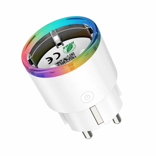 Priza inteligenta programabila WiFi, 16A cu LED RGB, compatibila cu Tuya / SmartLife, Alexa si Google Assistant