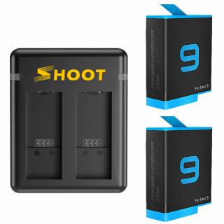 Incarcator dual + 2 baterii tip acumulator pentru GoPro Hero 9