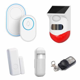Pachet sonerie inteligenta WiFi, detector PIR, senzori si telecomanda