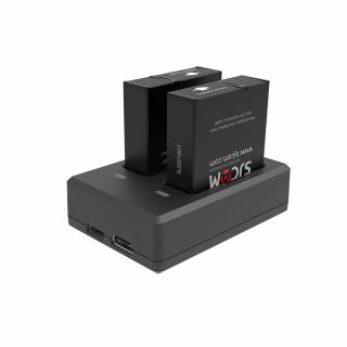 Incarcator dual + 2 baterii tip acumulator SJCAM SJ9
