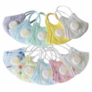 Masca faciala pentru protectie respiratorie cu supapa de expirare pentru copii - 10 bucati
