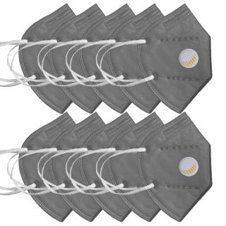Pachet 10 masti de protectie KN95 / FFP2, 5 straturi, cu valva de expirare NB950