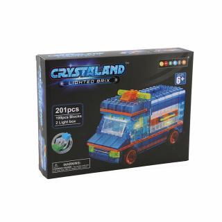 Puzzle cuburi cu LED - Ambulanta - 204 piese