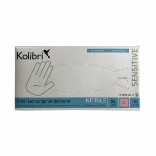 Manusi nitril nesterile si nepudrate 180 bucati / cutie, masura XL, Magenta