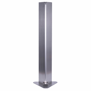 Dispenser / dozator mecanic cu pedala pentru gel / lichid dezinfectant, 2L, din inox