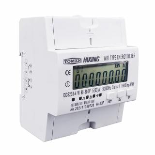 Sistem 2 in 1 - contor monofazat si siguranta SMART WiFi 60A, 90-300V, compatibil Tuya / Smart Life