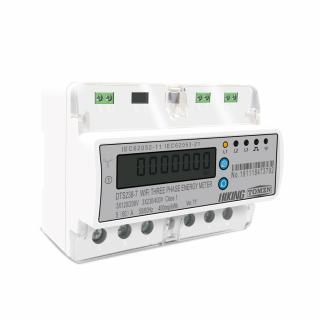 Contor trifazat inteligent WiFi pentru monitorizare energie electrica 110V 220V 50/60Hz, compatibil cu Tuya / Smartlife