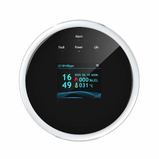Detector si alarma smart Wifi pentru scurgeri de gaze, compatibil Tuya/Smartlife