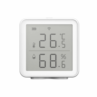 Senzor de temperatura si umiditate WiFi, compatibil Tuya, Alexa si Google Assistant