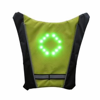 Vesta reflectorizanta de protectie cu semnalizari LED controlate cu telecomanda