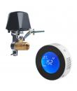 Pachet detector de gaz si electrovalva cu actionare automata WiFi si telecomanda, compatibil Tuya/Smartlife